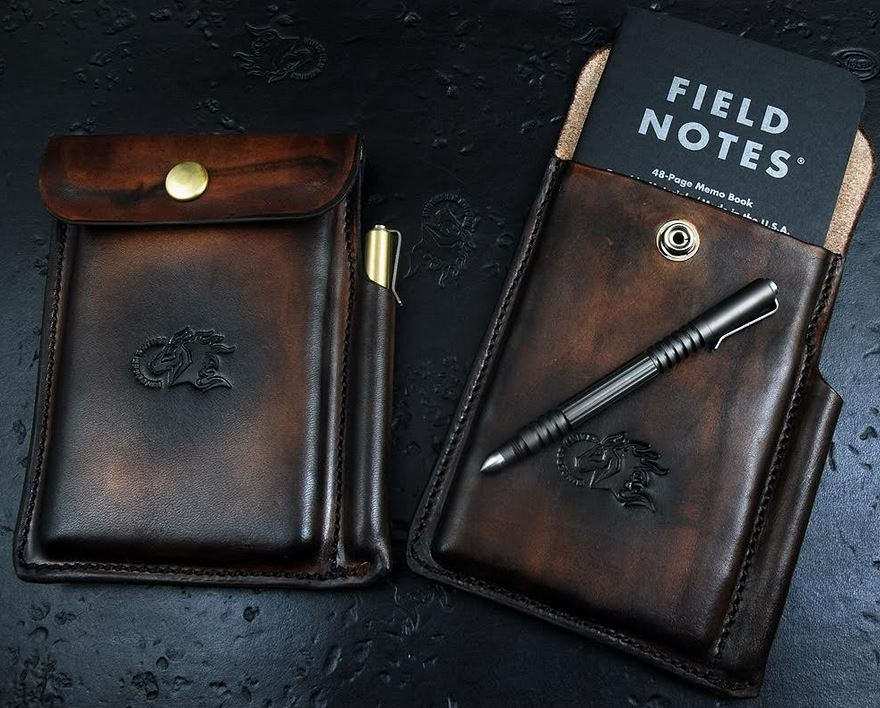 Hinderer Leather Notebook and Pen Case