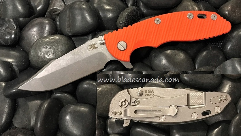 Hinderer XM-18 3.5 Gen 6 Harpoon Spanto SW - Orange G10