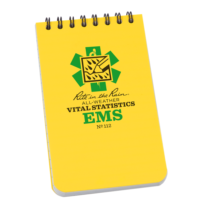 Rite in the Rain 112 EMS Vital Stats 3x5 Notebook