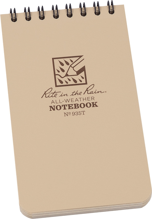 Rite in the Rain 935T Spiral 3x5 Weatherproof Notebook
