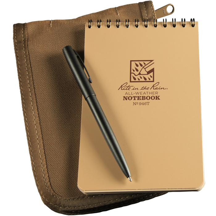 Rite in the Rain 946T Top Spiral Kit - Tan Notepad/Tan Cover