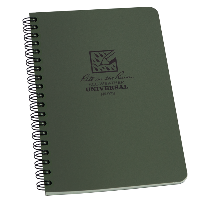 Rite in the Rain 973 Side Spiral Notebook - Green