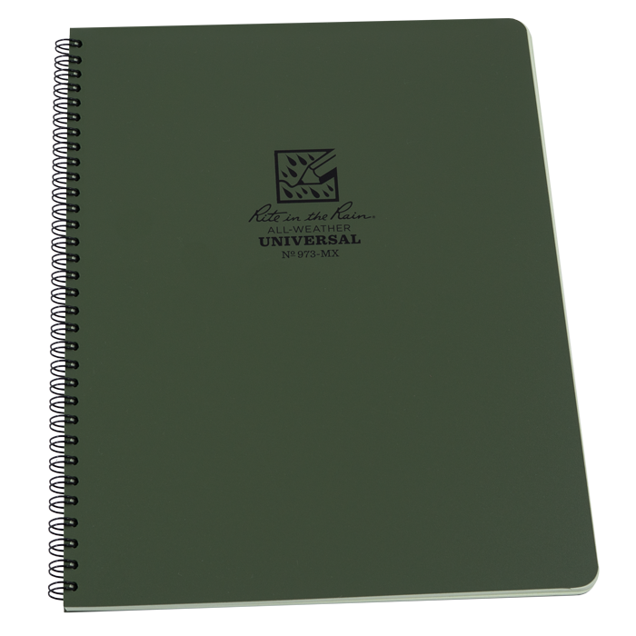 Rite in the Rain 973MX Maxi Side Spiral Notebook - Green