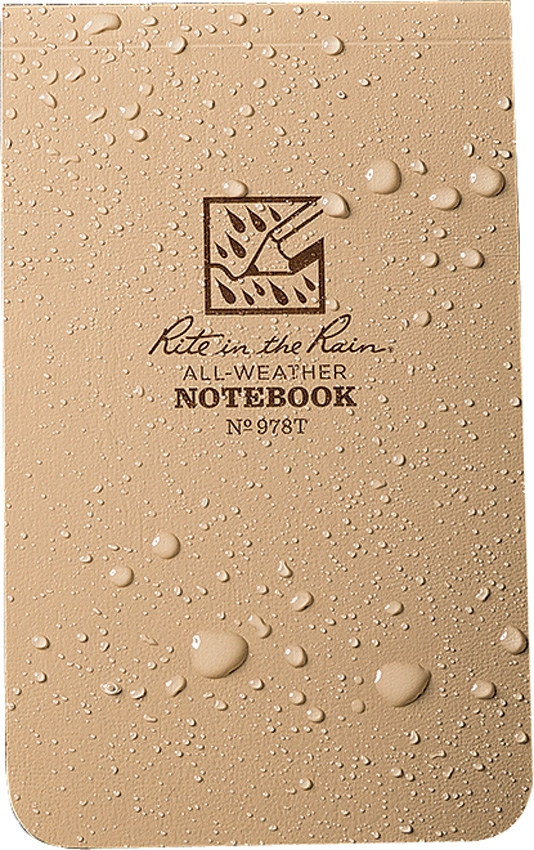 Rite in the Rain 978T Top-Bound Memo Book Tan