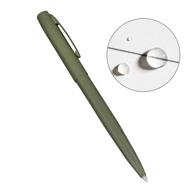 Rite in the Rain OD97 All-Weather Metal Clicker Pen - OD Green