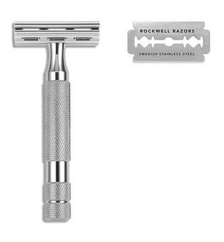Rockwell Razors 2C Adjustable Safety Razor- White Chrome