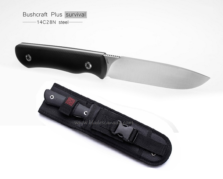 Real Steel 3719 Bushcraft Plus Fixed Blade - Survival Flat Grind