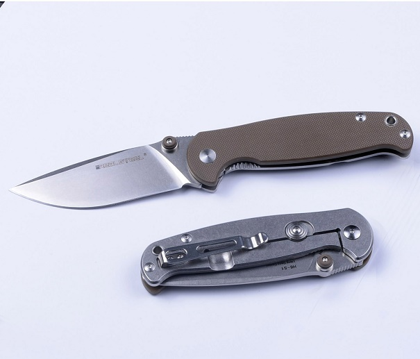 Real Steel 7773 H6 S1 Framelock - Brown G10