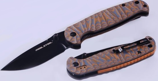 Real Steel 7784 H6 Special Edition II Black, Orange Pattern G-10