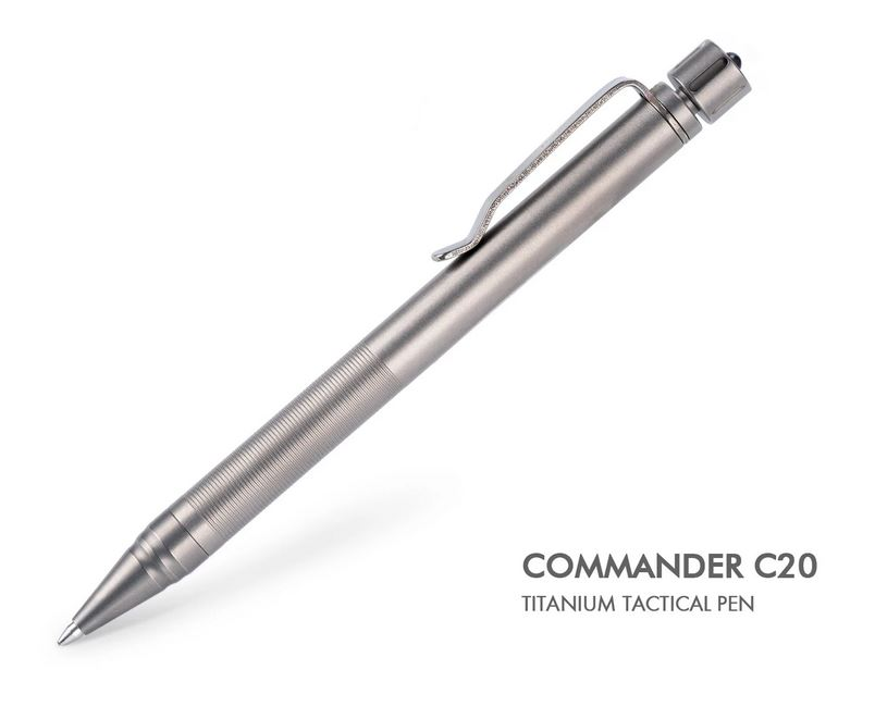 RovyVon C20 Titanium Tactical Pen - Sandblasted