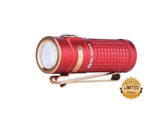 Olight S2R II Rechargeable Flashlight Red Anodized - 1000 Lumens