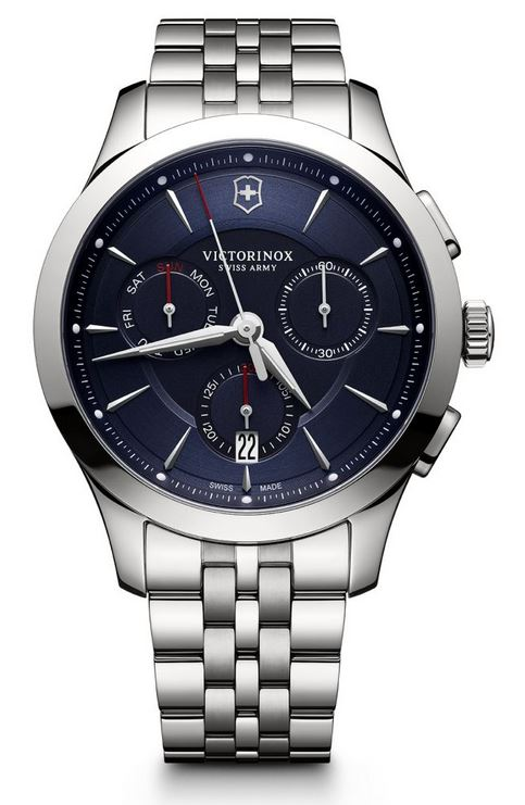 Victorinox Alliance Chronograph SS Bracelet - Blue