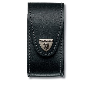Swiss Army Hook & Loop Leather Belt Pouch