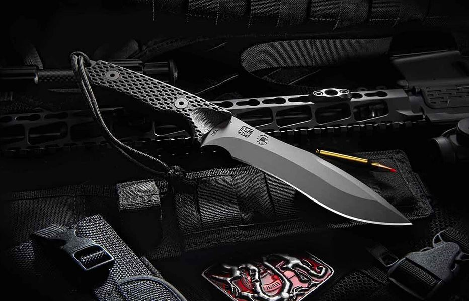 Spartan Blades Ronin Shinto Black - Black Kydex Sheath