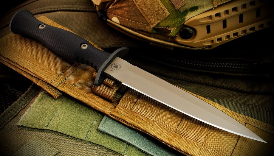Spartan Blades Harsey Dagger CPM S35VN, FDE Blade, Micarta Handle - Tan Nylon Sheath