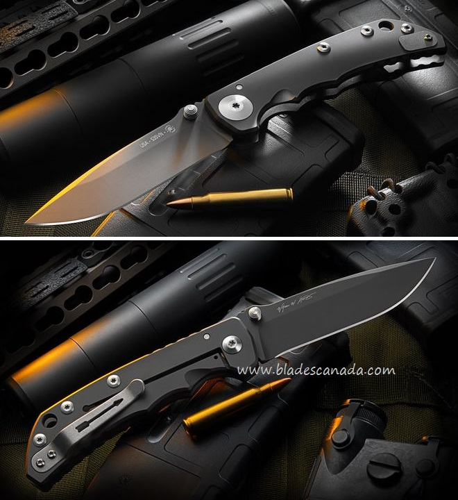 Spartan Blades Harsey Folder Black