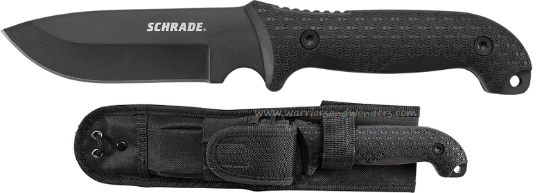 Schrade F51 Frontier 1095 Carbon Fixed Blade TPE