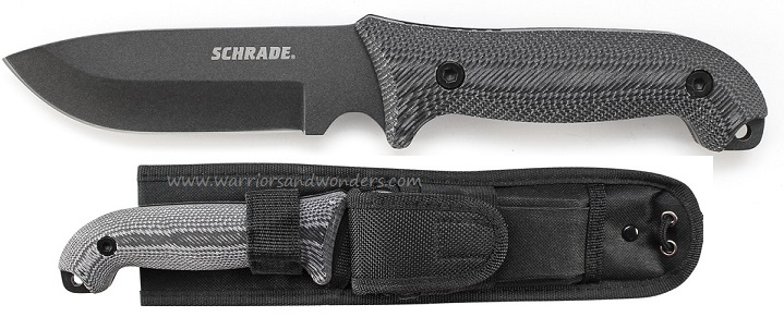 Schrade F51M Frontier 1095 Carbon Fixed Blade Micarta