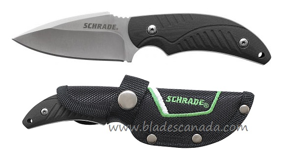 Schrade F66 Small Fixed Blade, TPR Handle w/ Nylon Sheath (Online Only)