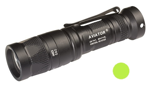 Surefire Aviator Multi-Spectrum LED 5/250 Lms-Yellow Green Light