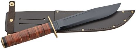 Sheffield Israeli Commando Knife with Leather Sheath