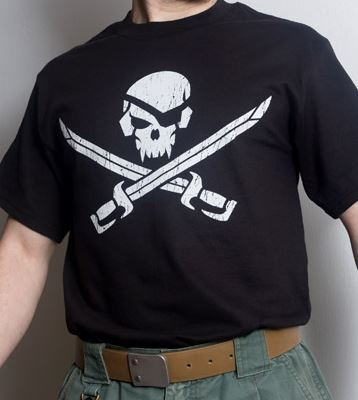 Mil-Spec Monkey Shirt - Pirateskull Black