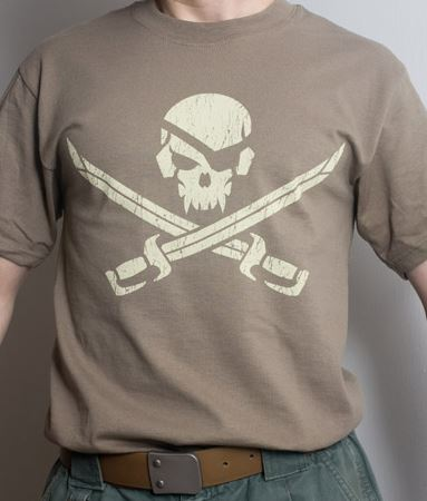 Mil-Spec Monkey Shirt - Pirateskull Brown [Clearance Size L]