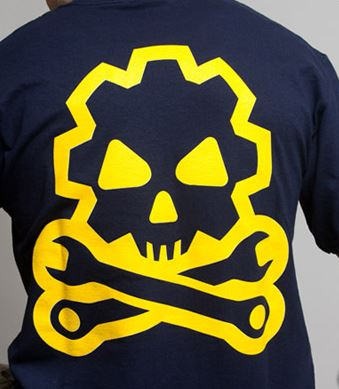 Mil-Spec Monkey Shirt - Death Mechanic Navy [Clearance Size M]