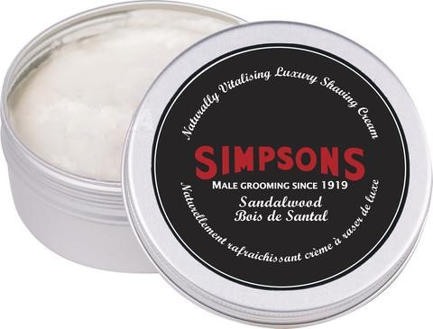 Simpsons Shaving Cream 125ml - Sandalwood