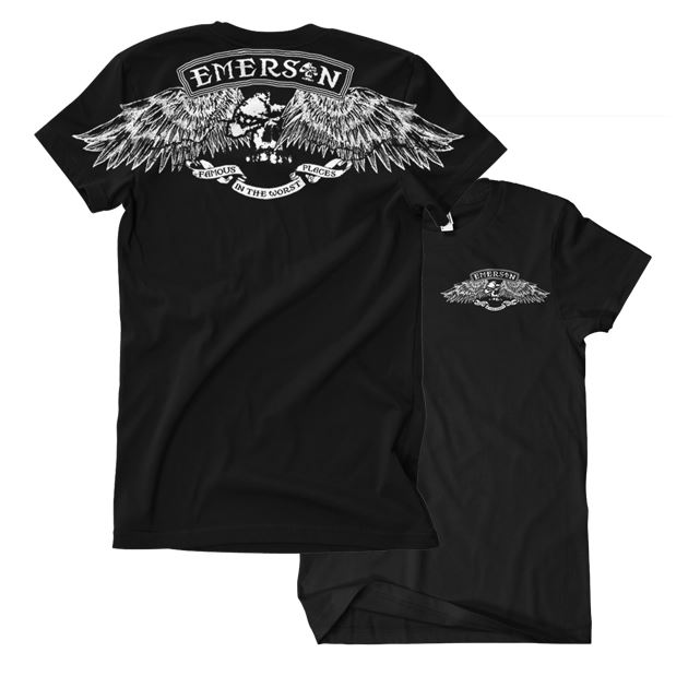 Emerson T-Shirt Skull with Wings