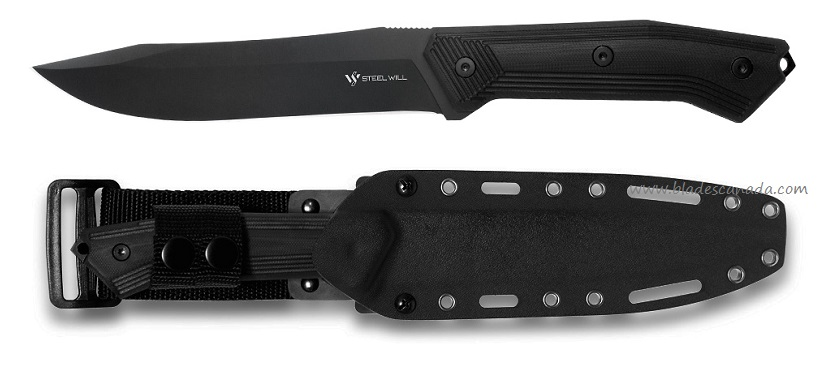 Steel Will Sentence 102 Black Blade w/ Kydex Sheath