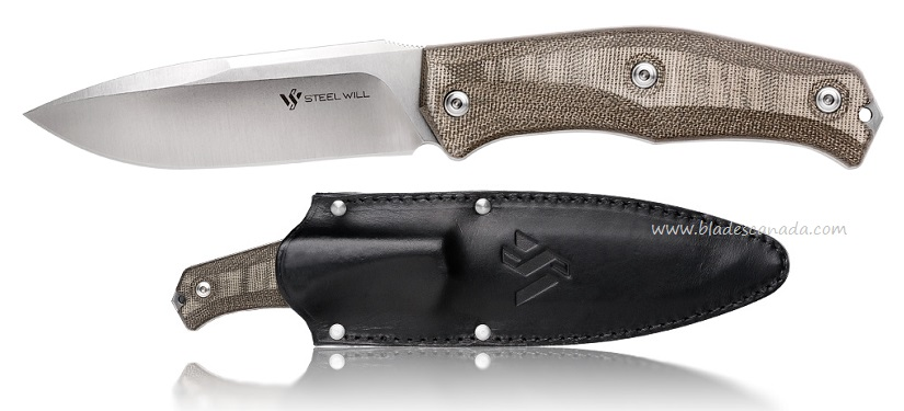 Steel Will 1510 Gekko Fixed Blade w/ Leather Sheath