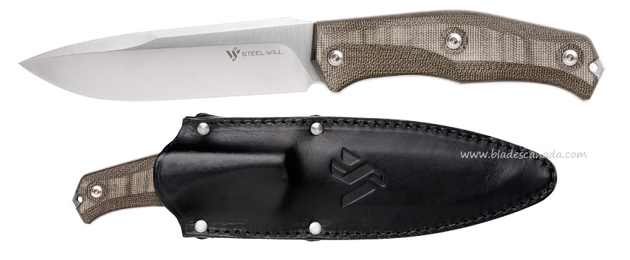 Steel Will Gekko 1530 Fixed Blade w/ Leather Sheath