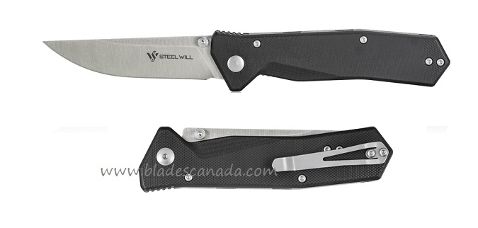 Steel Will F11-01 Daitengu D2 Folder, Black G-10