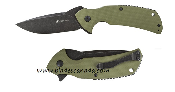 Steel Will F16-33 Plague Doctor D2 Linerlock OD Green
