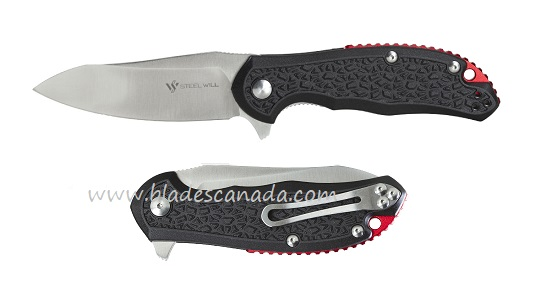 Steel Will F25-14 Modus D2 Flipper - Black FRN Red