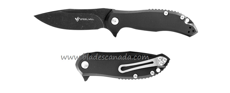 Steel Will F35M-09 Lanner Black D2, G10- Black