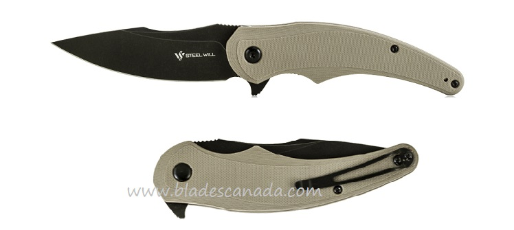 Steel Will F55-06 Arcturus D2 Black, Tan G-10