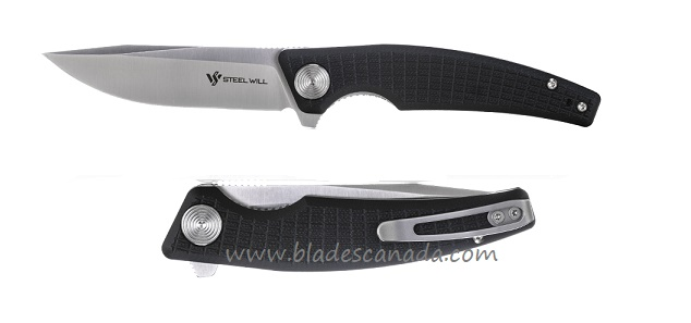 Steel Will F61-10 Shaula D2 Satin, Black G-10