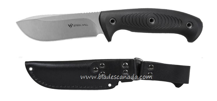Steel Will Roamer R345-1BK Knife w/ Leather Sheath - Black