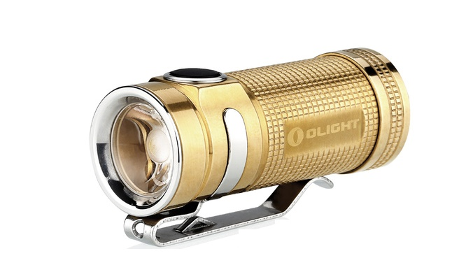 Olight S Mini Flashlight Raw Brass Limited - 550 Lumens