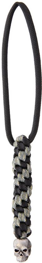 Schmuckatelli Co. Classic Skull Bead Pewter with Digi Lanyard