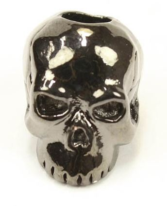 Schmuckatelli Co. Classic Skull Bead Hematite Plated