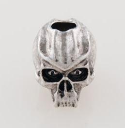 Schmuckatelli Co. Cyber Skull Bead Pewter