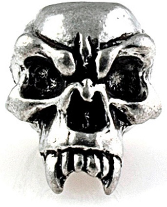 Schmuckatelli Co. Fang Skull Bead Pewter