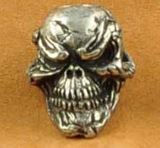 Schmuckatelli Co. Grins Skull Bead Pewter