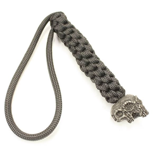 Schmuckatelli Co. Gemini Bead Pewter Black with Black Lanyard