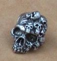 Schmuckatelli Co. Mind Skull Bead Pewter