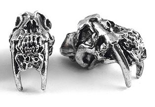 Schmuckatelli Co. Sabertooth Skull Pewter