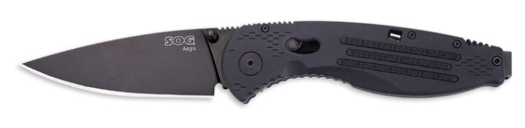 SOG AE02 Aegis Black TiNi Spring Assisted (Online Only)